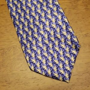 Frog silk tie